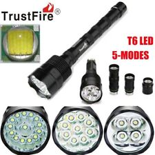 Tactical Police 80000Lm 3-16x XML T6 LED Flashlight 5-Mode 18650 Torch Lamp