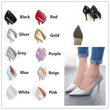 Women's High Heels Pointed Toe OL Lady Wedding Stilettos Patent Leather Shoes