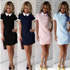 New Women Short Sleeve Office Bodycon Evening Party Cocktail Short Mini Dress