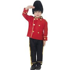 Boys Busby Queens Royal Guard London Beefeater Fancy Dress Costume Kids Outfit