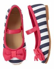 NWT Gymboree Best in Show Striped bow Dress Shoes Flats Toddler 4,5,6,7,8,9