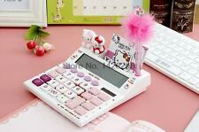 Back to School Girls Hello Kitty Solar Calculator with Pen and Notebook Kids Toy