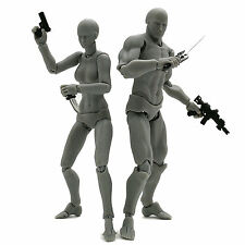 figma archetype next he/she grey color weapons ver. PVC Action figure body toy