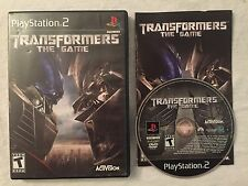 Transformers: The Game (Sony Playstation 2) Complete Black or Greatest Hits!