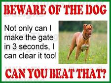 VINTAGE STYLE RETRO METAL PLAQUE ; Beware of the Dog (Dogue De Bordeaux) Ad/Sign