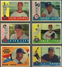 2009 Topps Heritage Baseball Chrome Refractor & Black Refractor Cards (You Pick)