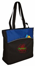 Personalized Hibiscus Flower Two-Tone Colorblock Tote Bag CSB1510HF-ROBK