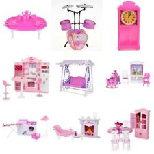 Dolls house Miniature Furniture Play Sets For 1/6 Barbie Dolls Plastic Toys Accs