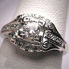 Women 3.6CT White Topaz Beauty Jewelry 925 Silver Ring Wedding Engagement Sz6-10