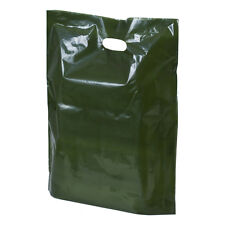 Dark Harrods Green Plastic Retail Shopping Carrier Bags -  3 sizes avail