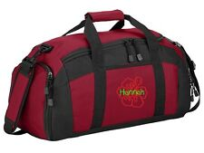 Personalized Hibiscus Flower Gym Sports Duffel Bag CSBG970HF-RO