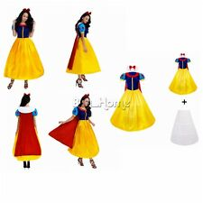 Women Princess Cosplay Costume Ladies Fairytale Party Fancy Dress Ball Gown Gift