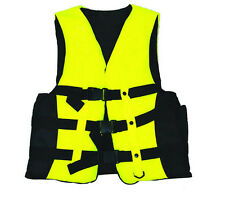 Polyester Adult Life Jacket Universal Swimming Boating Ski Vest+Whistle New WR