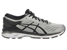 NEW MENS ASICS GEL-KAYANO 24 RUNNING SHOES TRAINERS SILVER / BLACK / MID 2E-WIDE
