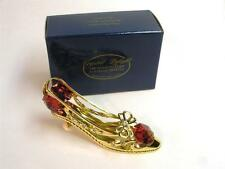 24-K GOLD PLATED RED AUSTRIAN CRYSTAL AND CLEAR CRYSTAL STUDS  SHOE FIGURE NIB