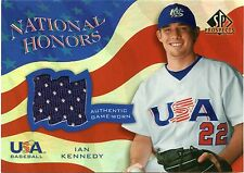 2004 Upper Deck SP Prospects Baseball USA National Honors Game-Used Jersey Cards