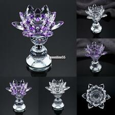 Lotus Crystal Votive Tealight Candle Holder Candlestick Stand Wedding Home EA9