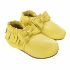 NIB ROBEEZ Shoes Maggie Moccasin Yellow 0-6-12-18-24m 1 2 3 4 5 6 7 8