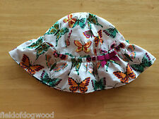 NWT Gymboree Woodside Walk sunhat Chin strap Butterfly 12 18mo Baby Girl