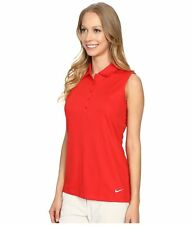 Nike Womens Dri Fit Victory Solid Sleeveless Golf Polo Shirt Save 40%  Small