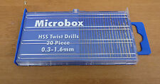 MICROBOX PRECISION TWIST DRILL BITS ARCHIMEDES SPIRAL DRILL CRAFT MODEL HOBBY