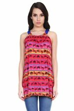 Global Desi Womens Boho Wig Print Sleeveless Tunic