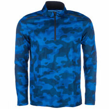 adidas Mens Climacool 365 Long Sleeve Blue Camouflage T-Shirt NEW (Sizes M,L)