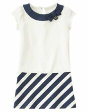 NWT Gymboree Nautical Navy Blue Striped Dress Cape Cod Cutie 5 6 7 8 Girls