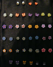 Hypoallergenic Stud Earrings - No Metal! Gothic? gift? Christmas? (02)