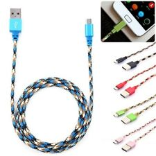 3FT Braided Data Sync Cord Fast Charger USB Data Data Cable Sync Charger Cable