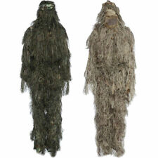 HOT! Hunting Ghillie Suit Sniper Camo 3D Woodland Camouflage Forest Leaf Poncho