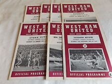 WEST HAM UNITED 1964/1965  HOME PROGRAMMES