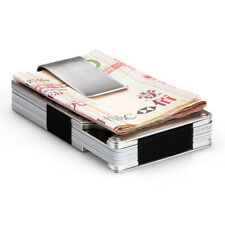 Stainless Steel Credit Card Holder Business Name ID Card Case Wallet Bag Peachy