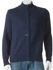 NWT $68-Mens Dockers Blue Zip Up Long Sleeve Cardigan Sweater-size L