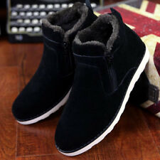 Korea Mens Fur Lined winter Snow Ankle boots Athletic Anti-slip Casual shoes new