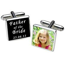 Personalised Date & Photo Cufflinks Father of the Bride Father of the Groom Gift