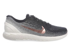 NEW MENS NIKE LUNARGLIDE 9 RUNNING SHOES TRAINERS BLACK / METALLIC RED BRONZE