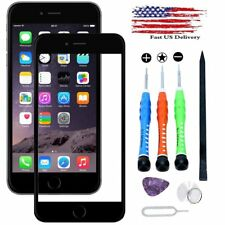 Black Front Screen Glass Replacement Repair Fix Open Tools Kit For iPhone 7 Set