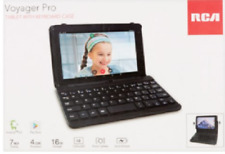 """RCA Voyager 7"""" 16GB Tablet Bundle Keyboard Case Android 6.0 WiFi Webcam"""