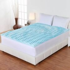 Cooling Gel Foam Mattress Topper Pad Bed Cushion 5 Zone Orthopedic Firm 3 Inch