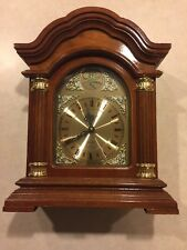 "Westminster Chime Quartz Mantel Clock ""Tempus Fugit"" Tested Battery Operated"