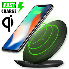 Qi Wireless Charger Fast Charge Charging Pad Stand For iPhone X Note8 S8 S9 Plus