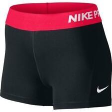 "NWT Nike Pro Cool 3"" Women's Compression Shorts 725443-033 Black/Racer Pink"