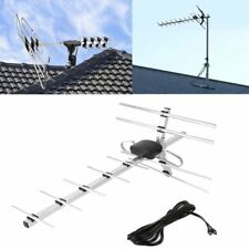 100/150Mile HD Digital Indoor/Outdoor VHF UHF FM HDTV TV Amplified Antenna US OY