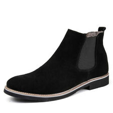 Flat Mens Suede Ankle Boots Desert Pull On Casual Shoes Chukka Fashion Chelsea