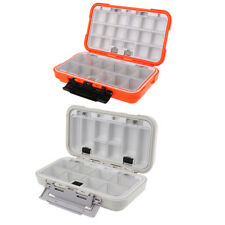 Two-sided Fishing Tackle Box Fishing Plugs Lures Spinners Hooks Baits Case