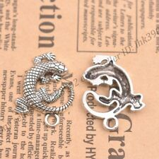 Wholesale 5pcs Tibetan Silver Nice Gecko Charms Pendants 30X27MM Z368
