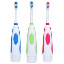 Portable Dual Brush Head Rotary Electric Toothbrush with Replacement Brush Head