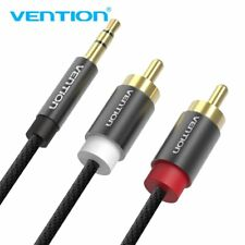 VENTION 3.5mm Stero Male Plug to Dual 2RCA Jack Cable Stereo PC Audio Splitter E