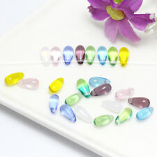 Mermaid Tear Crystal Glass Beads Bracelet Earring Jewelry Making Beads Mix Color